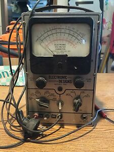 Old Antique Electronic Designs Model 100 Electric Voltmeter Ohmmeter