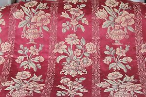 Stunning Floral Vintage Antique French Lyon Silk Home Decor Cole Fabric