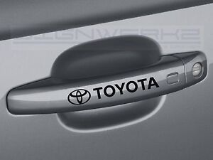 Toyota Door Handle Decal Sticker Logo Trd Camry Celica Frs 4 Runners Supra Pair