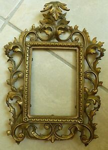 Antique Victorian Brass Easel Back Picture Frame 4 X 6 653 Patd Apr 24 94