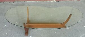 Vintage Biomorphic Danish Modern Teak Coffee Table Pearsall Kagan Ponti