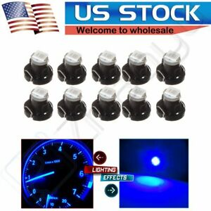 10pcs Blue 1 2835 Smd Led Bulbs T3 Neo Wedge For Honda Dash Climate Lights Lamp