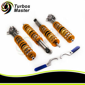 For Vw Rabbit Golf Mk1 Height Adjustable Coilover Suspension Lowering Kit New
