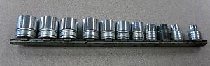 Snap On 11 Piece Socket Set 3 8 Drive Great Used Condition Free Shipping