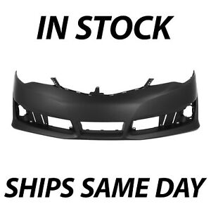 New Primered Front Bumper Cover Fascia For 2012 2014 Toyota Camry Se To1000379