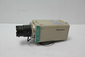 Panasonic Wv cp234 Color Cctv Securty Camera With Lens 8mm 3 5 Used