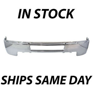 New Chrome Steel Front Bumper For 2011 2014 Chevy Silverado 2500hd 3500hd Truck