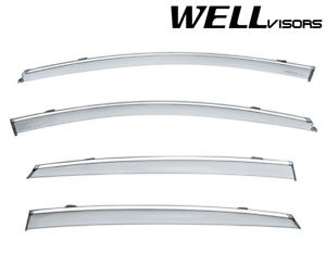 Fit 16 18 Chevy Malibu Sedan Wellvisors Smoke Chrome Trim Window Visors Guard