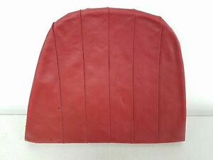 Nice Used Orig Porsche 911 912 Driver Rear Seat Bottom Cushion Red Leatherette