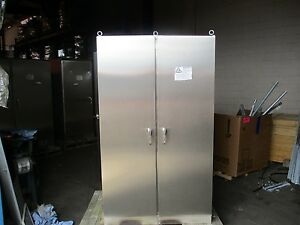 Hoffman 2 door Dual access Stainless Steel Enclosure Size 78x48x30 New Surplus