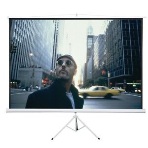 New White 120 4 3 Tripod Compact Portable Projector Projection Screen Matte Us