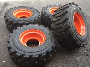 4 33x15 5 16 5 Skid Steer Tires rims For Bobcat A300 a770 s750 s77