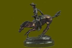Arizona Remington Horse Cowboy Bronze Sculpture Handcrafted Frederic Statue T