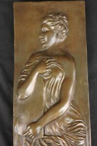 Wall Mounted Real Bronze Statue Sculpture Gift Classic Home Decorum Nude Woman