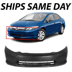 New Primered Front Bumper Cover Replacement Fascia For 2012 Honda Civic Sedan