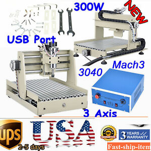 Usb Mini Cnc Router Kit 3 Axis 3040 Engraver Drill Mill Machine Diy 3d Cutter Us