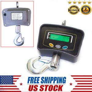 Digital Lcd Crane Scale 500kg 1100lb Electronic Hanging Portable Industrial