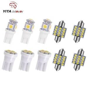 11x White Led Interior Package Kit T10 31mm Map Dome License Plate Light Bulbs