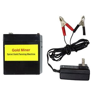 Gold Miner Battery Charger Package For Spiral Gold Panning Machine Tgp 002