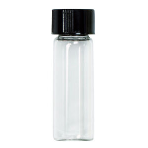 Small Glass 1 Oz Flakes And Flour Storage Vial With Lid For Gold Prospecting