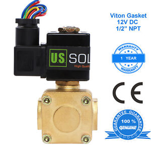 U s Solid 1 2 Brass Electric Solenoid Valve 12v Dc Normally Closed Air Water