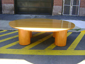 Retail Oak Look Wood Table Huge 95 8ft Round Table W Pedestal Column Legs