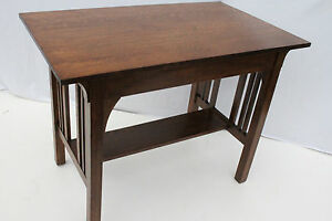 Great Mission Tiger Oak Desk Writing Table With One Drawer C 1900