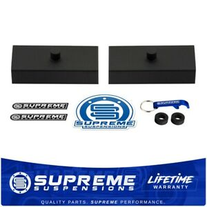 1 Rear Leveling Lift Blocks For Chevrolet Silverado Gmc Sierra Hd Steel Kit