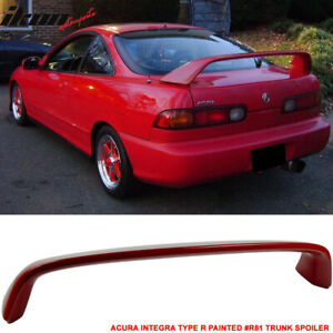 Fits 94 01 Integra Dc2 Type R Painted R81 Milano Red Trunk Spoiler