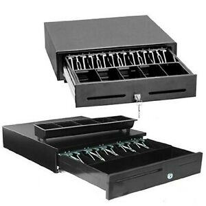 2xhome Heavy Duty Pos Cash Drawer Rj 11 Phone jack Black W Epson And Other Co