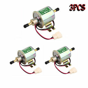 3x Superior Quality Gas Diesel Inline Low Pressure Electric Fuel Pump 12v He