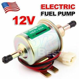 Universal 12v Electric Fuel Pump Diesel Petrol Low Pressure Hep 02a He