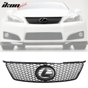 Fits 06 08 Lexus Is250 350 Isf Is F Style Black Mesh Front Hood Grille Grill