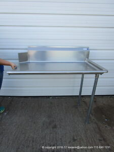 New Stainless Steel Clean Right Side Dish Table 48 16ga Nsf