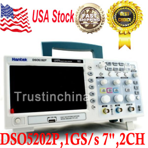 Hantek Dso5202p Digital 200mhz Oscilloscope 2 Channels 1gs s 7 Tft Lcd 800x480