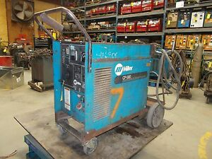 Miller Cp 300 Arc Welding Power Source On Roll around Cart