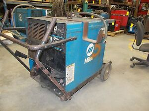 Miller Cp 302 Arc Welding Power Source On Roll around Cart