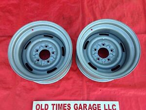 Chevrolet 15x8 Vette Style Rally Wheels Rims 5 On 5 Chevy C10 Gmc Truck Cheyenne