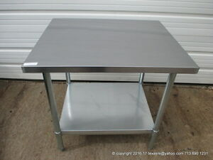 New Stainless Steel Work Prep Table 36 X 30 Nsf