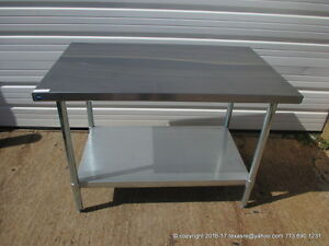 New Stainless Steel Work Prep Table 48 X 30 Nsf