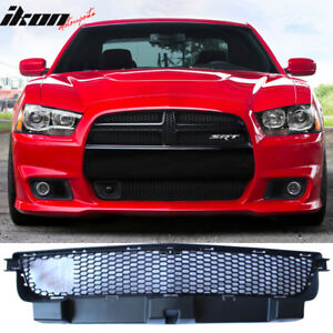 Fits 12 14 Charger Srt8 Front Lower Grille With Adaptive Cruise Control Black