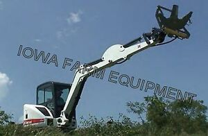 Excavator Tree Shear tree Clipper sidney Tbl1010 Cuts 10 Dia Hyd Jaw Rotation