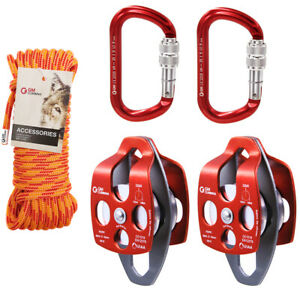 5 1 Block Tackle Kit Pulley System Set Dragging Rigging Hauling System Lifting