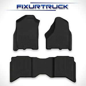 09 Current Dodge Ram Crewcab Black Floormats Huskyliners Weatherbeater Set 99001