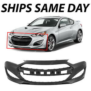 New Primered Front Bumper Cover For 2013 2014 2015 Hyundai Genesis Coupe 13 16