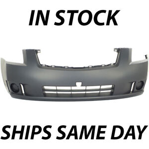 New Primered Front Bumper Cover For 2007 2009 Nissan Sentra 2 0 Without Fog