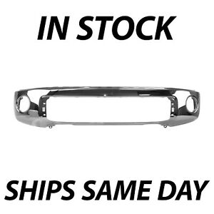 New Chrome Steel Front Bumper For 2007 2013 Toyota Tundra Truck W Park Assist