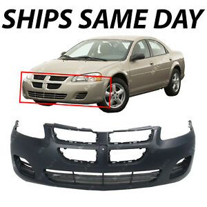 New Primered Front Bumper Cover For 2004 2006 Dodge Stratus Sedan Without Fog