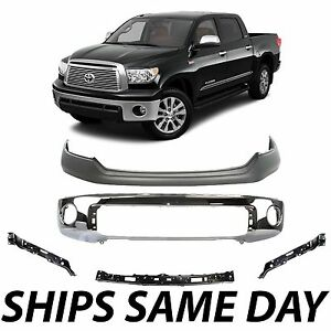 New Chrome Steel Front Bumper Kit With Brackets For 2007 2013 Toyota Tundra