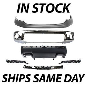 New Chrome Steel Front Bumper Valance Kit For 2010 2013 Toyota Tundra W Park